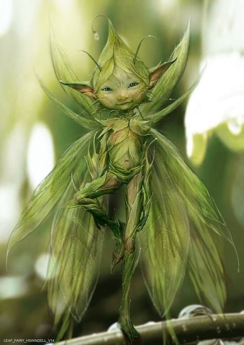 This wooden fairy is a rather cute little green fella methinks