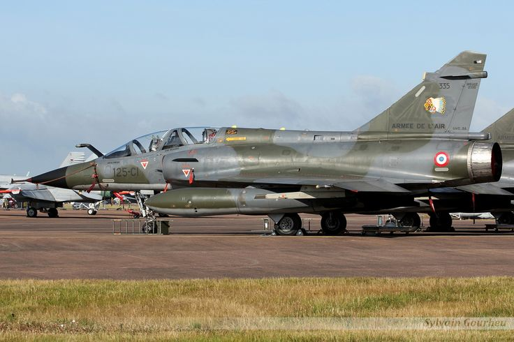 The unmistakable and irreplaceable Dassault Mirage 2000N of the French Armée de l'Air Ramex Delta display duo, at the RIAT Fairford 2015.