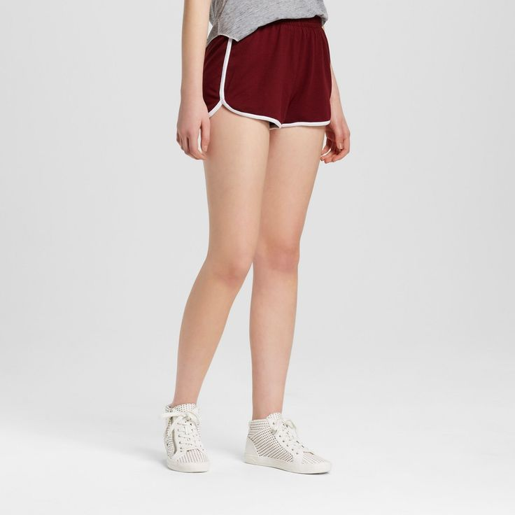 Women's Dolphin Hem Short Burgundy (Red) XS - Mossimo Supply Co.