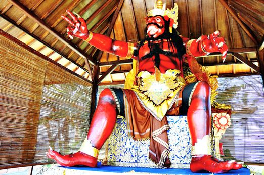 Paper monster: The ogoh-ogoh museum displays a collection of effigies that Balinese people created to celebrate Nyepi. (...
