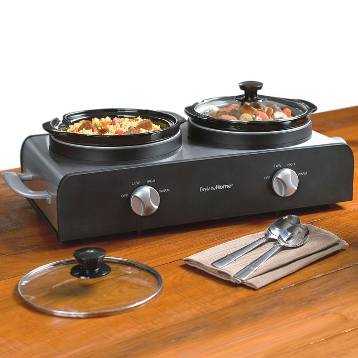 BrylaneHome® Double Slow Cooker | Sale! | Brylanehome