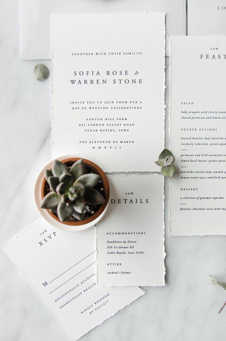The Sofia Semi-Custom Wedding Invitation Suite | simple, traditional, classic, letterpress, foil, minimal, elegant, unique, creative, design, neutral | Gatherie Creative