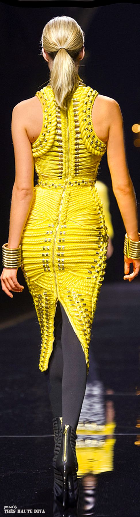 Balmain F/W 2014 - Paris Fashion Week. Admired by FalconFabrics.com.au