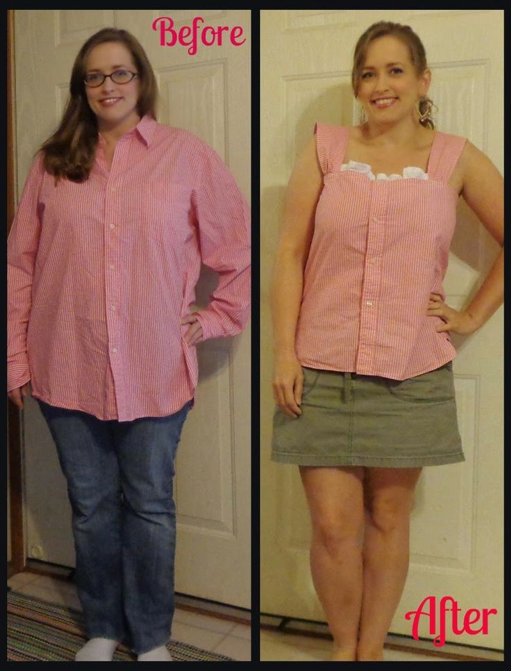 ~ SoSoSewer ~ Pretty Summer Top from a Men's Dress Shirt ~  Men's Dress Shirt Refashion, Clothing Refashion, Clothing Makeover