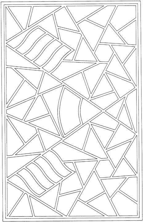 geometrische formen cartoon malseite mandala geometrische