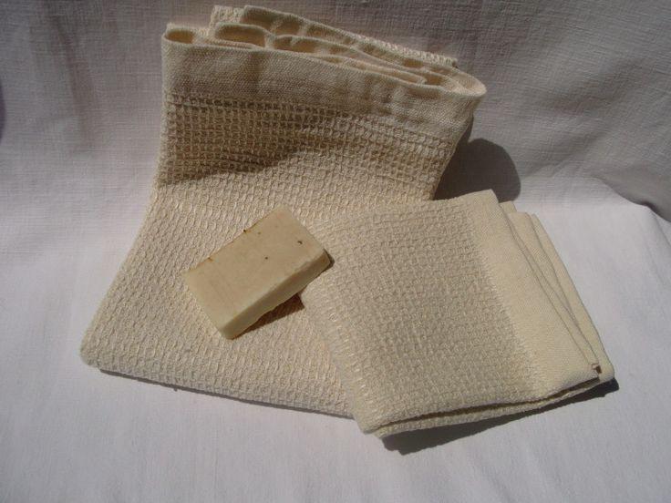 Handtücher - Handgewebte Leinen-Hanf Handtücher - ein Designerstück von HandwebereiOrditoio bei DaWanda