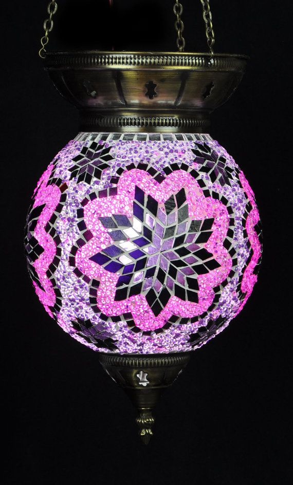 Hand Made Mosaic Lamp Small Hanging Ball di UniqueHomeLondon, £91.65