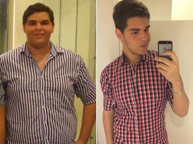 Yuri Matheus Melo de Sousa, de 16 anos, passou de 140 kg para 86 kg em pouco mais de um ano (Foto: Yuri Matheus Melo de Sousa/Arquivo Pessoal)