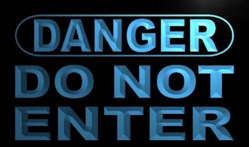 Danger Do Not Enter Neon Light Sign