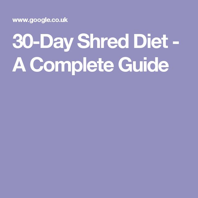 The 25+ best 30 day shred diet ideas on Pinterest | 30 day shred ...