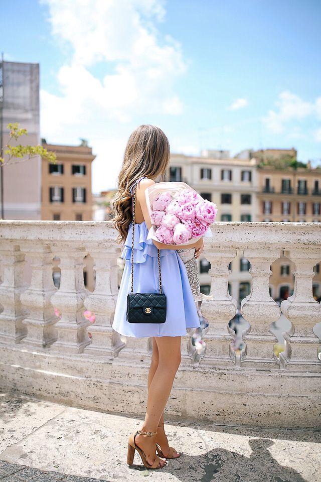 ruffle dress in Rome