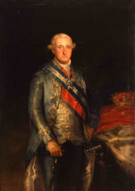 Retrato de Carlos IV por Francisco de Goya y Lucientes, 1789. Propiedad: Colección Pedro Masaveu. Depósito del Principado de Asturias en el Museo de Bellas Artes de Asturias, Oviedo.