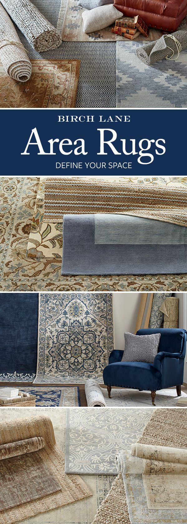 If you're looking for a way to add pattern, color, or texture to your space, the answer could be right under your feet. Shop Birch Lane's selection of rugs to find the perfect option and unroll a whole new look. Sign up and learn more. Don't forget: orders $49 and over always ship free.