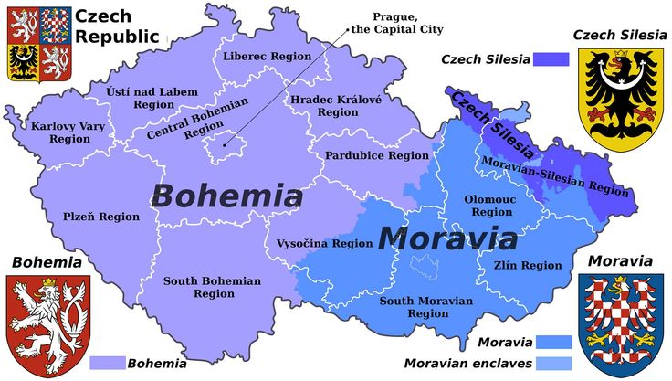 Czech Republic regions map