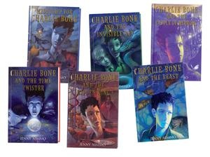 Charlie Bones series I'm reading them to my son - almost done with #2!  Not a Harry Potter clone - it's good in its own way.