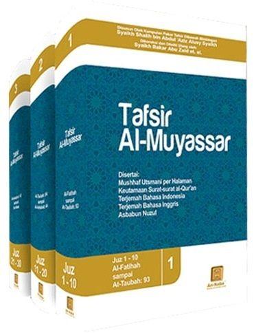 Kelebihan Buku Tafsir Al Muyassar  1. Diterjemahkan dari kitab Tafsir Al-Muyassar dari penerbit Al-Mujama Malik Fahd, penerbit yang menyebarkan jutaan al-Quran keseluruh dunia, reputasi dan kredebilitasnya dalam hal ini tidak diragukan lagi. 2. Menafsirkan ayat sejalan dengan manhaj salaful shalih di bidang aqidah. 3. Mendahulukan nash yang paling shahih dari tafsir bil-matsur. 4. Membatasi nukilan hanya pada pendapat yang shahih atau terkuat.