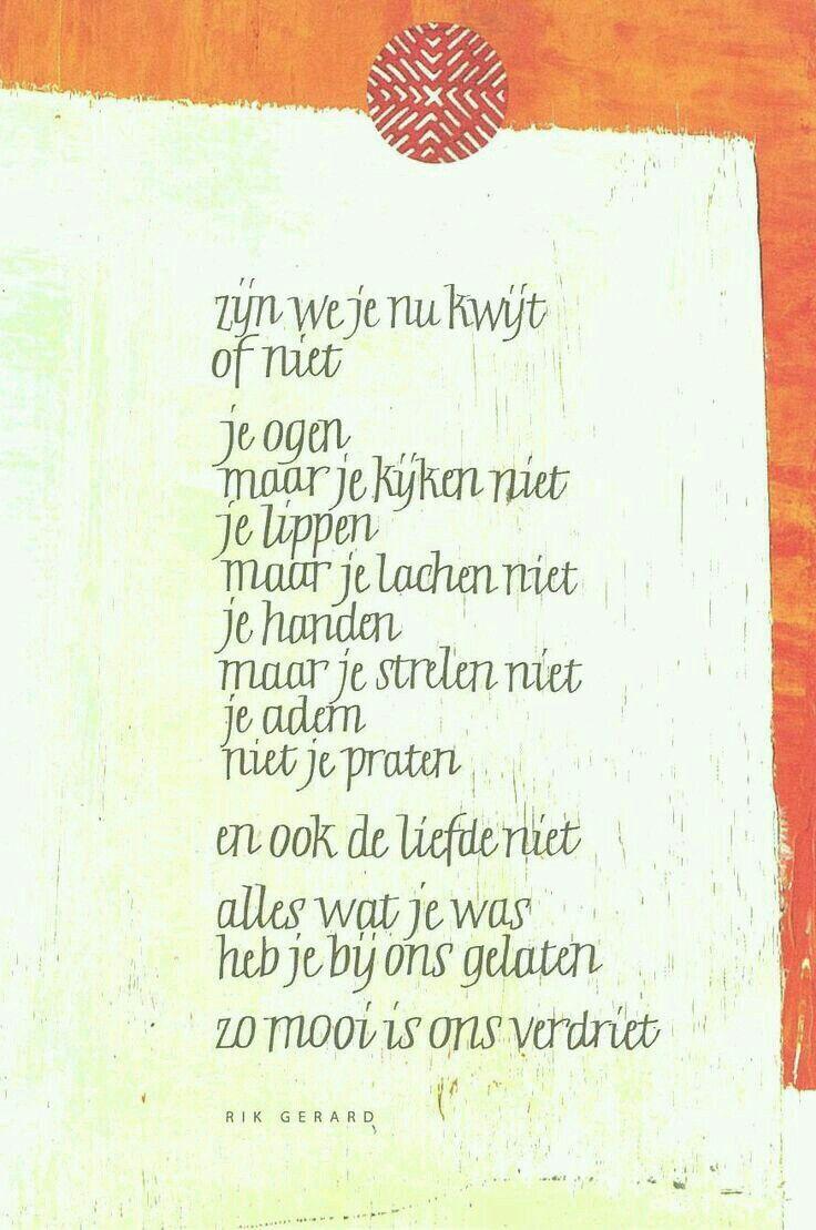 Gedichtje na overlijden