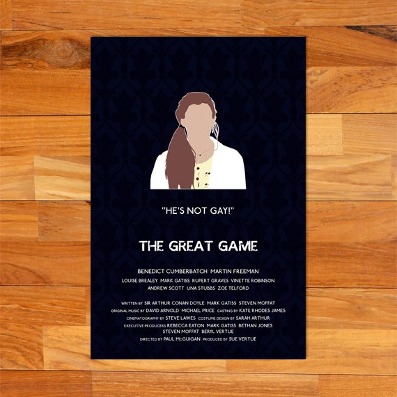 The Great Game alternative television poster -- Molly Hooper edition