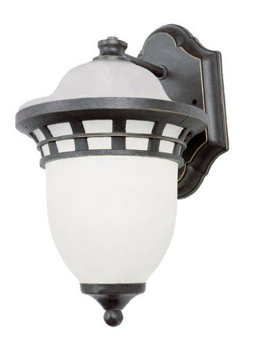 Bel air lighting energy saving outdoor bronze coach lantern with frosted bz the home depot