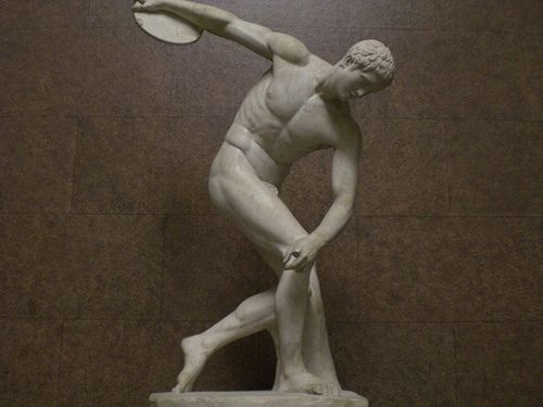 Athlete on ancient greek olympics games