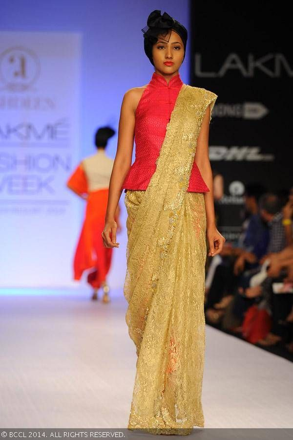 Sari by Ashdeen on Day 5 of the Lakme Fashion Week (LFW) Summer Resort 2014