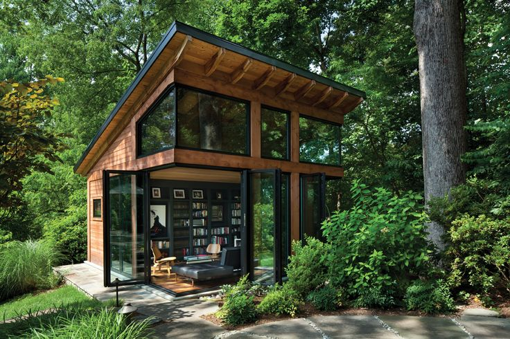 Doors And A Nanawall System Open The Cedar Clad Structure