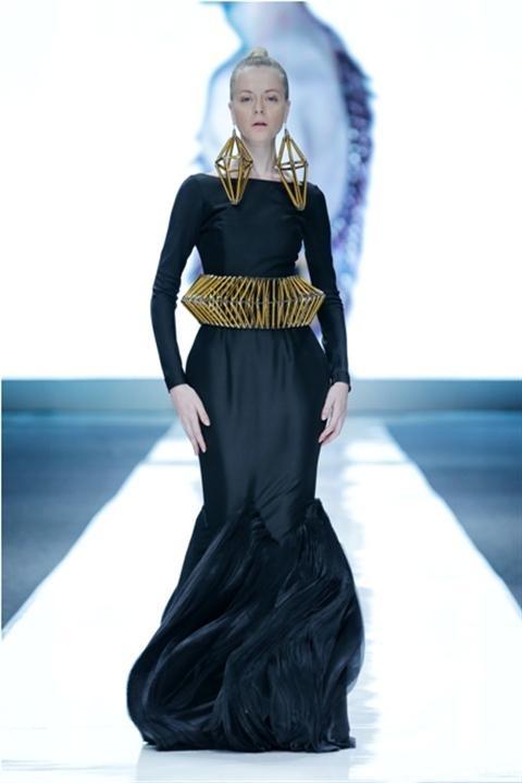Jakarta Fashion Week 2012-2013..Designer Frej. Fashion designer from Indonesia