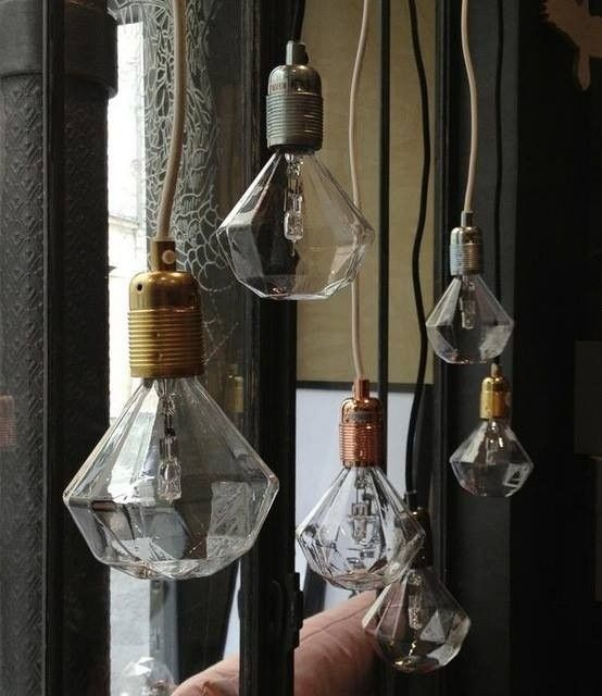 I'm lovig this Diamond Light Bulb found onRemodelista. Swoon!  Who needs a shade?