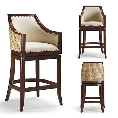 Sheldon Swivel Bar And Counter Stools Linens Leather