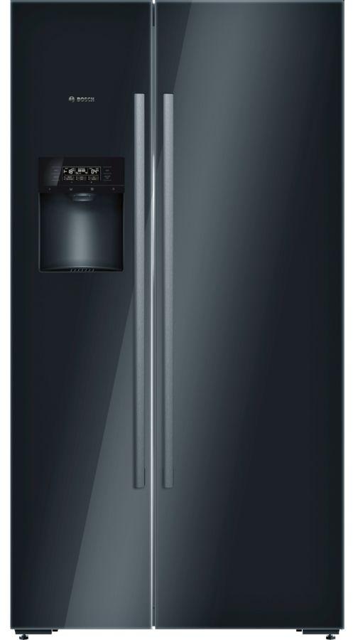 Frigorífico americano - Bosch KAD92SB30 No Frost, Dispensador de  agua, cubitos y hielo picado, Negro, A++