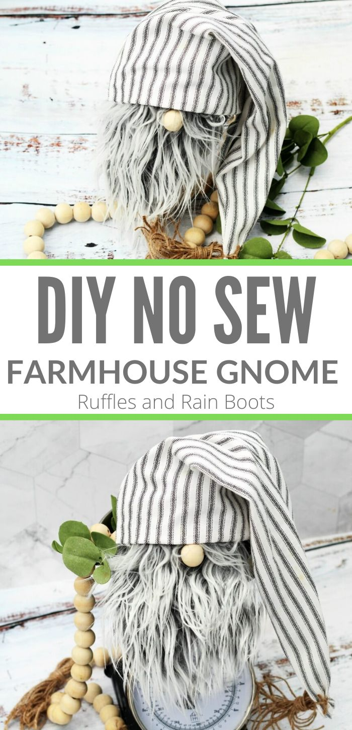 DIY Farmhouse Gnome in Only 20Minutes No Sewing! (With