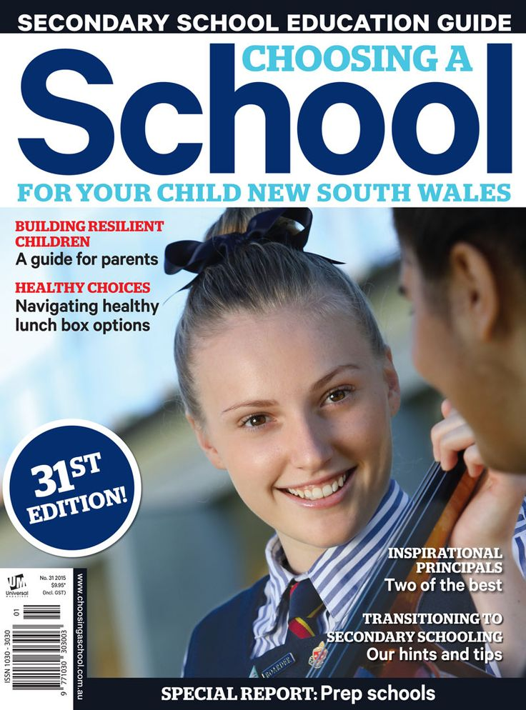 Choosing a School for Your Child New South Wales - Universal Magazines /// • Core target: Parents represent the active, concerned, choice-making sector of the family market in NSW. This pro-active attitude extends to all decisions relating to their child/children, and their diverse needs. • Frequency: Annual • Interests: Detailed profiles of all subjects and activities at the school, complete with details of the school's philosophy and fee structure etc.