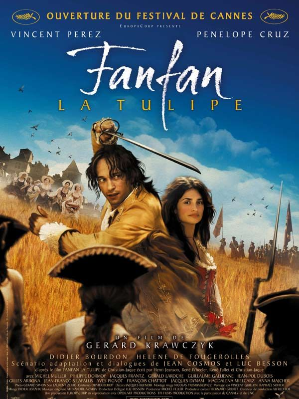 "Poster from ""Fanfan La Tulipe"" (dir. Gérard Kawczyk, 2003).  Remake of the 1952 classic starring Gérard Philippe."