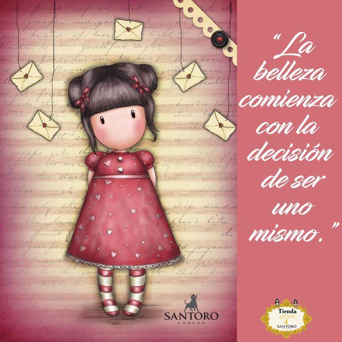 """""""La belleza comienza con la decisión de ser uno mismo""""#gorjuss #santorolondon #frases #frasedeldia #felizlunes #tiendagorjuss"""