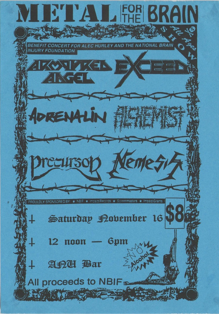 the very first Metal For The Brain concert in 1991