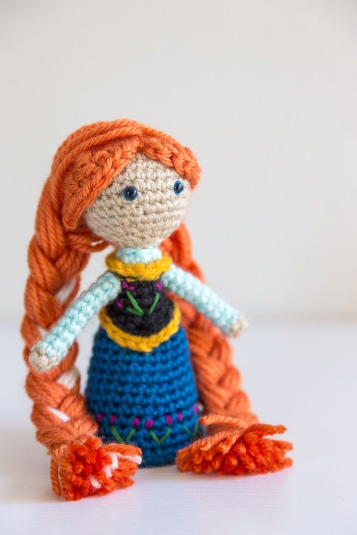 Disney Princess Anna Crochet Amigurumi Doll.  Pattern by Sahrit.