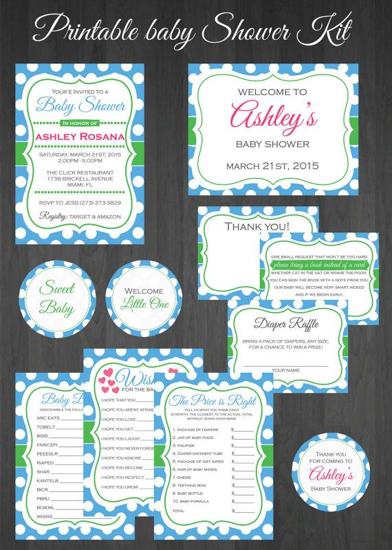Baby Shower Kit Printable Baby Shower Kit By MemorableImprints