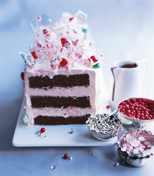 Peppermint Ice Cream Candyland Cake Store-bought peppermint ice cream ...