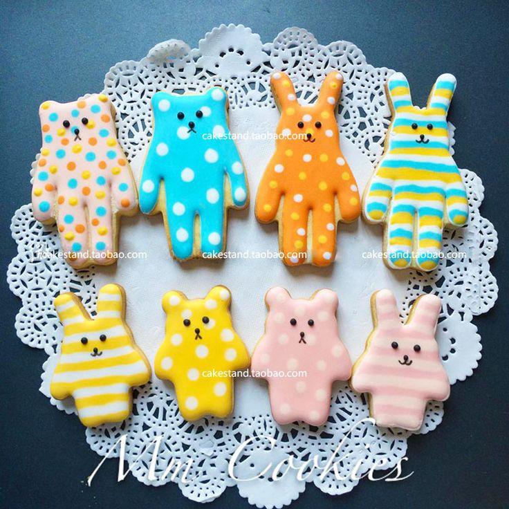 Красочные печенье выпечка плесень Медведь кролик груши Сюн Caihong груша кролика куки формы из нержавеющей стали - Taobao