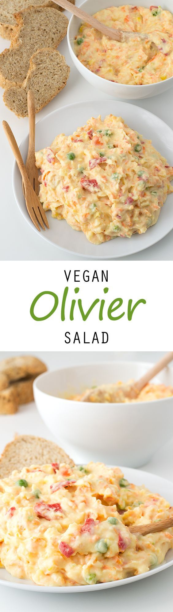 Vegan Olivier Salad #vegan #glutenfree: