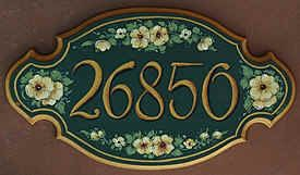 Hausschilder - Dekorative Initialen, Namensschilder, Adressenschilder und Hausnummern