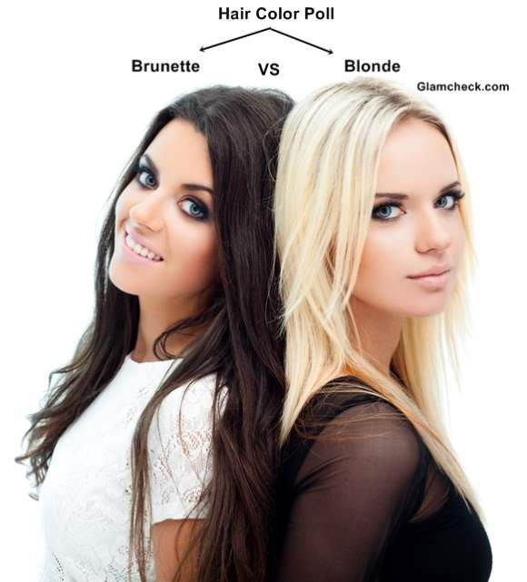 Hair Color Poll – Brunette vs. Blonde