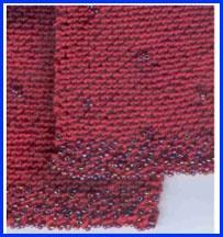 Knit Pattern: Beaded Scarf in Diagonal Garter Stitch