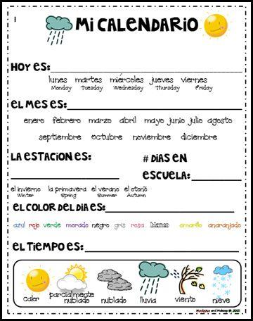 Diario Calendario español