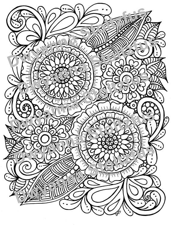 Pin By Tiffany Vincent On Coloring Pages Flower Henna Coloring Pages Color