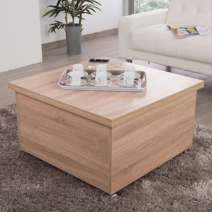Table Basse Carree Avec Pouf