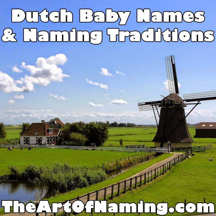 The Art of Naming: World-Wide Wednesday: Dutch Baby Names