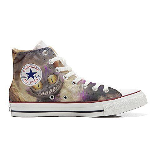Converse All Star Customized - personalisierte Schuhe (Handwerk Produkt)Tribal Texture size 44 EU Make Your Shoes nL54HCJ