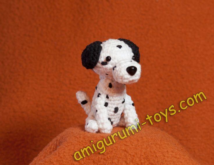Собачка далматинец амигуруми: