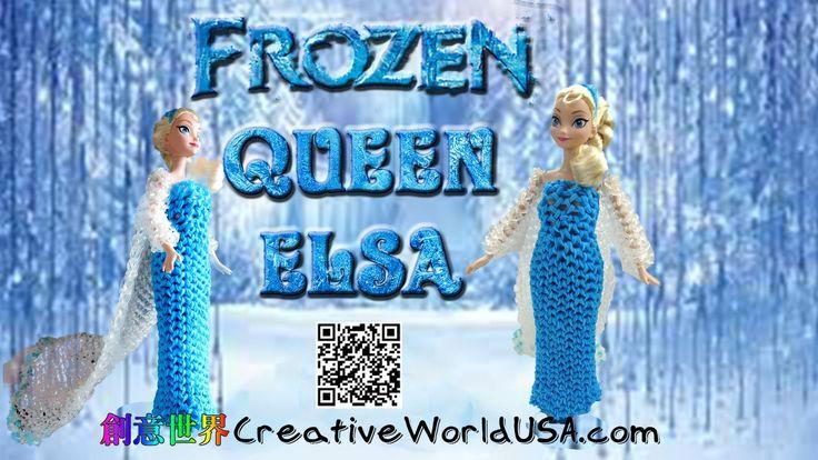 Rainbow Loom Frozen Queen Elsa Dress/Wedding/Evening Gown 婚紗禮服/晚禮服 - 彩虹編...